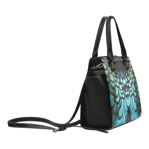 peacock Rivet Shoulder Handbag (Model 1645)