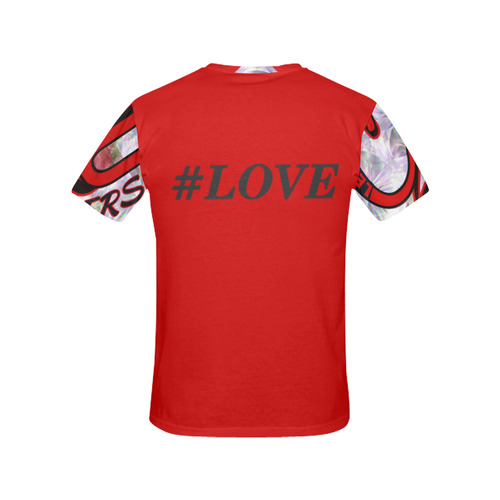 RedLOVE All Over Print T-Shirt for Women (USA Size) (Model T40)