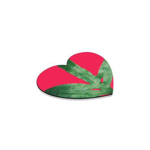 pink nature Heart Coaster