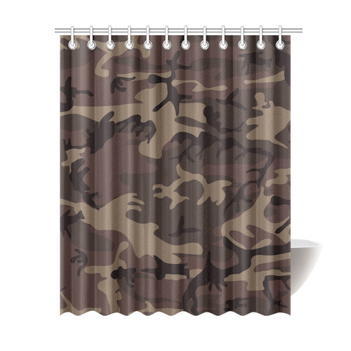 Camo Red Brown Shower Curtain ...