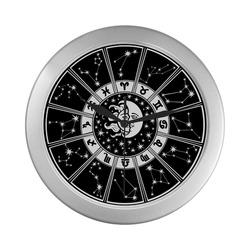 Silver Color Wall Clock