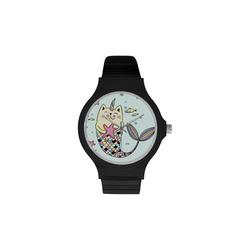 Unisex Round Plastic Watch(Model 302)