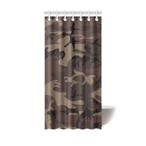 Camo Red Brown Shower Curtain 36x72