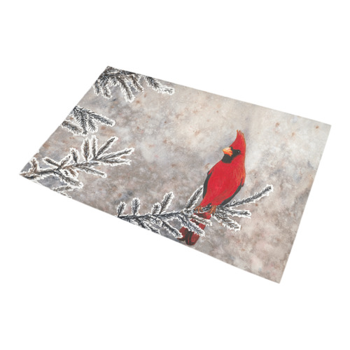 Gray Black Red And Silver Winter Cardinal By Jackiesewingstudio