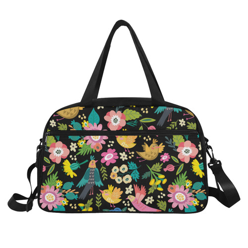 Spring Flowers And Birds Pattern I Fitness Handbag (Model 1671)