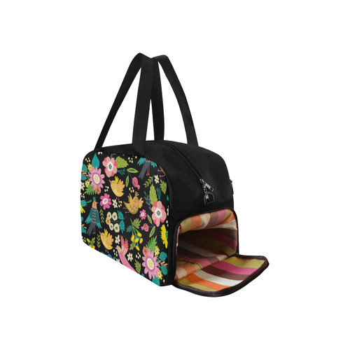 Spring Flowers And Birds Pattern I Weekend Travel Bag (Model 1671)