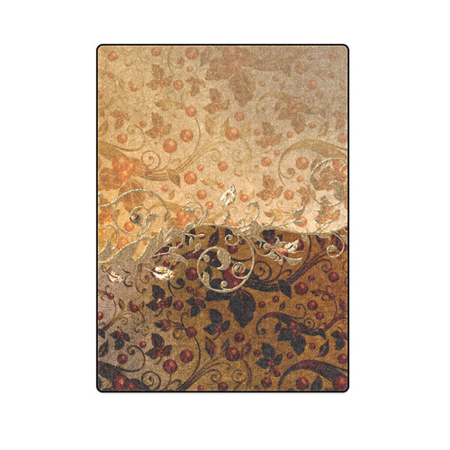 "Wonderful decorative floral design Blanket 58""x80"""