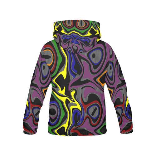 Rainbow Puddles All Over Print Hoodie for Women (USA Size) (Model H13)