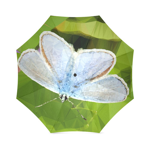 blue butterfly low poly geometric triangle art foldable