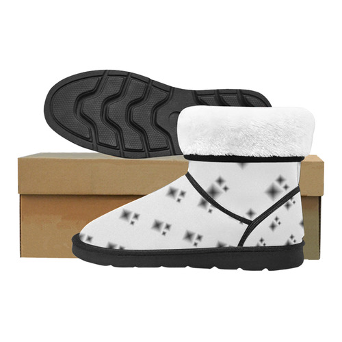 Reversed Diamond Shapes Custom High Top Unisex Snow Boots (Model 047)