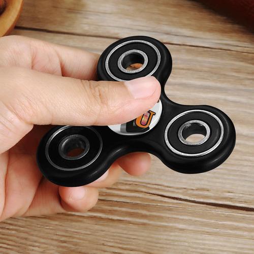 logo c2u orange Fidget Spinner