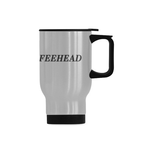 COFFEE HEAD Travel Mug (Silver) (14 Oz)