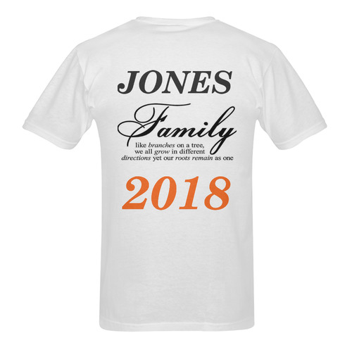 OUR FAMILY2 Men's T-Shirt in USA Size (Two Sides Printing)