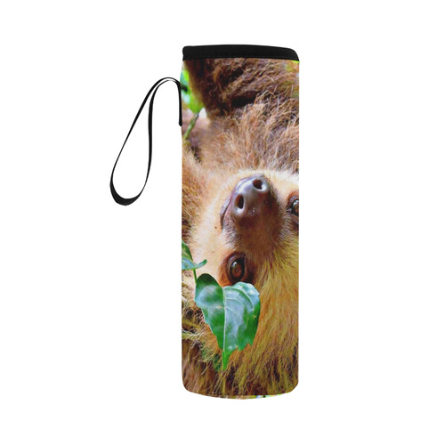 Awesome Sloth by JamColors Neoprene Water Bottle Pouch/Large