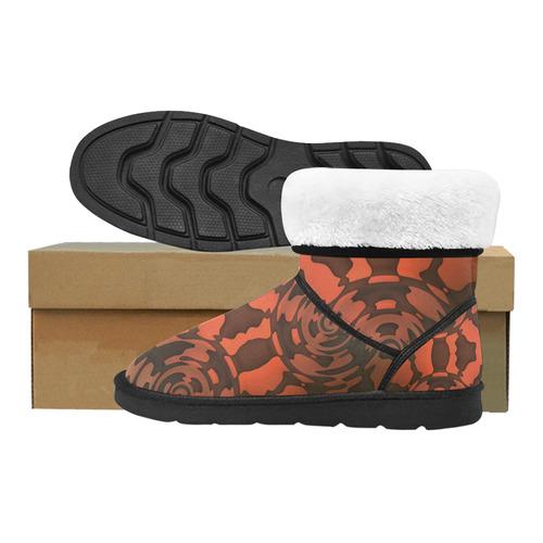 Vibrations Custom High Top Unisex Snow Boots (Model 047)