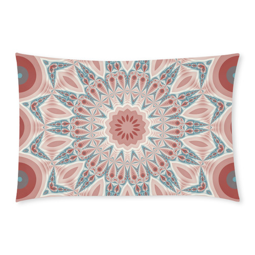 Modern Kaleidoscope Mandala Fractal Art Graphic 3-Piece Bedding Set