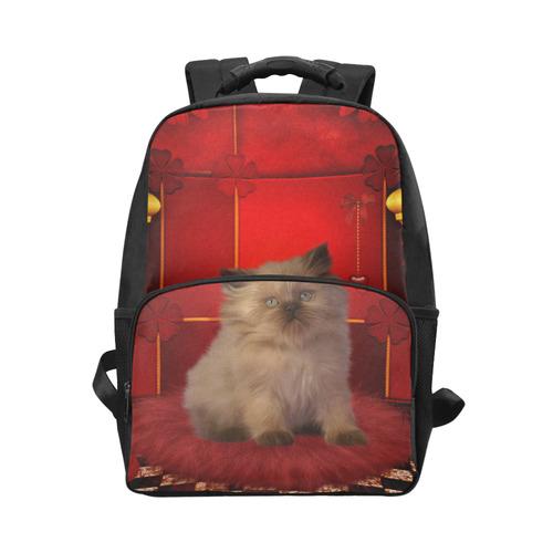 Cute little kitten Unisex Laptop Backpack (Model 1663)  4399c2bc63884
