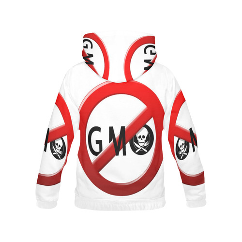 Stop GMO All Over Print Hoodie for Women (USA Size) (Model H13)