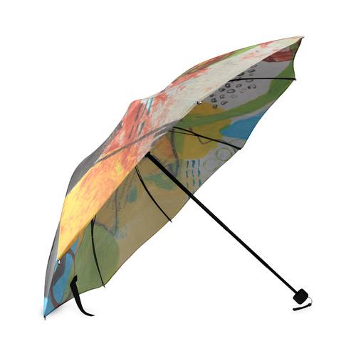 Messy Circles Foldable Umbrella (Model U01)