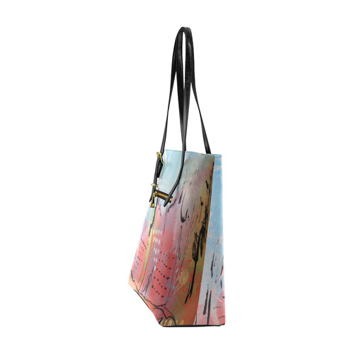 Pink City Euramerican Tote Bag/Small (Model 1655)