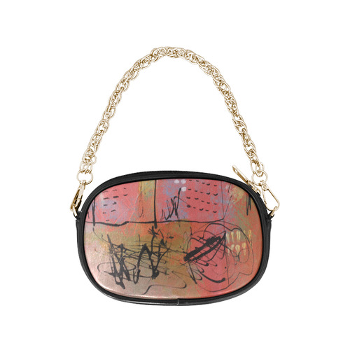 Pink City Chain Purse (Model 1626)