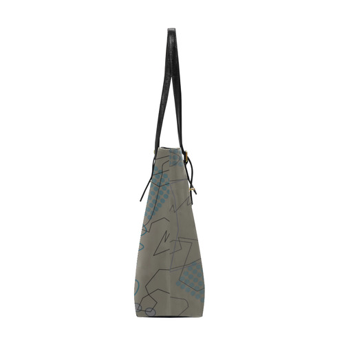 Abstract 8 brown Euramerican Tote Bag/Small (Model 1655)