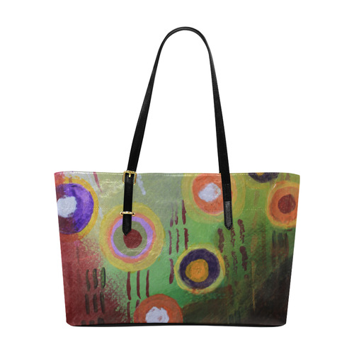 Flowers 1 Abstract Euramerican Tote Bag/Large (Model 1656)