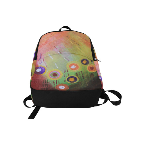Flowers Abstract Fabric Backpack for Adult (Model 1659)