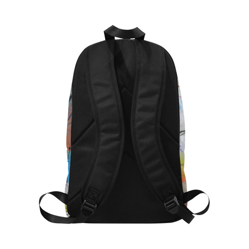 Flying in the Clouds Fabric Backpack for Adult (Model 1659)
