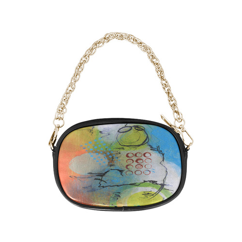 Flying in the Clouds Chain Purse (Model 1626)