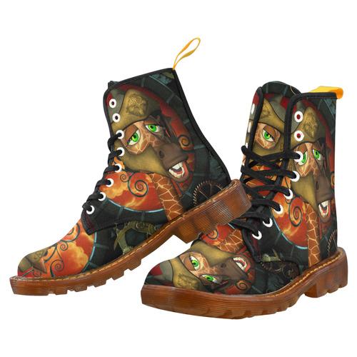 2024e05c633 Funny giraffe with helmet Martin Boots For Men Model 1203H