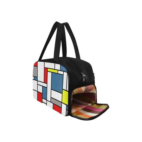 Mondrian style design Fitness Handbag (Model 1671)