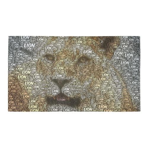 WordArt Lion by FeelGood Bath Rug 16''x 28''