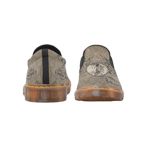 Elegant floral design Martin Women's Slip-On Loafer (Model 12031)