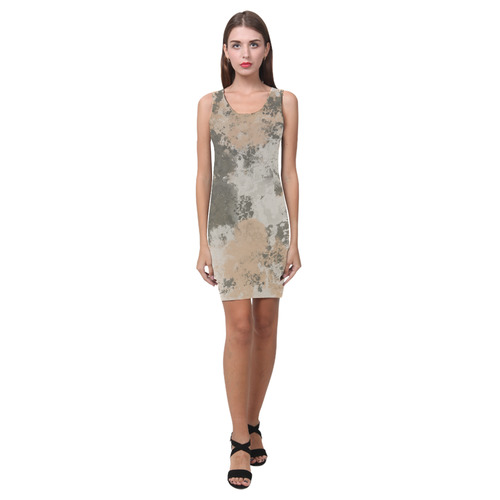 Abstract Mud Puddle Medea Vest Dress (Model D06)