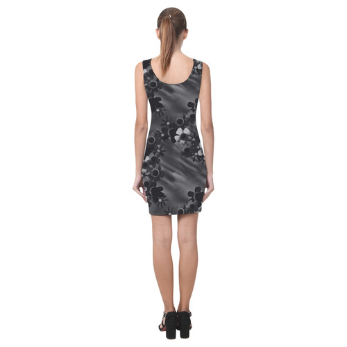 Black Blossoms Medea Vest Dress (Model D06)