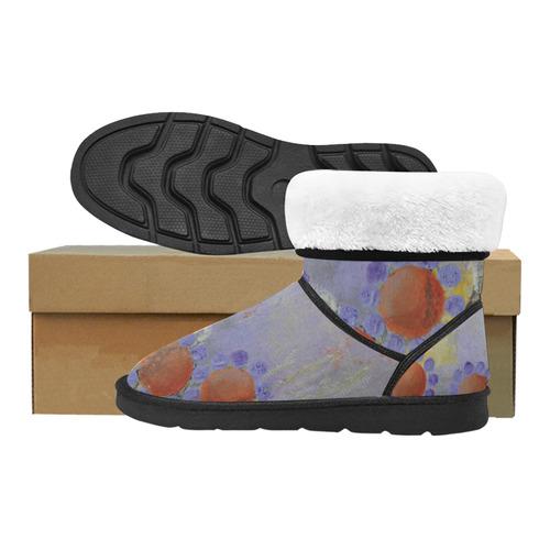 Cheery Flowers Custom High Top Unisex Snow Boots (Model 047)