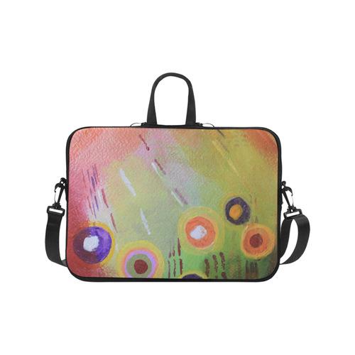 "Flowers Abstract Laptop Handbags 17"""