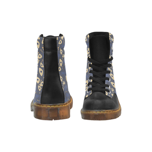 Swimming Turtles Apache Round Toe Women's Winter Boots (Model 1402)
