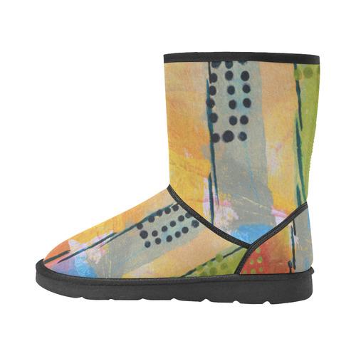 Sunset Park Custom High Top Unisex Snow Boots (Model 047)