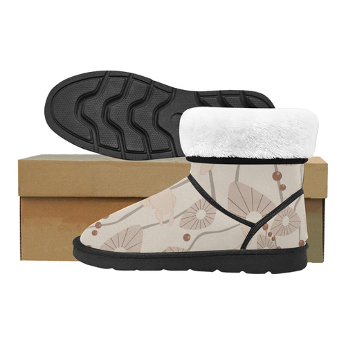 Swimming Turtles Custom High Top Unisex Snow Boots (Model 047)