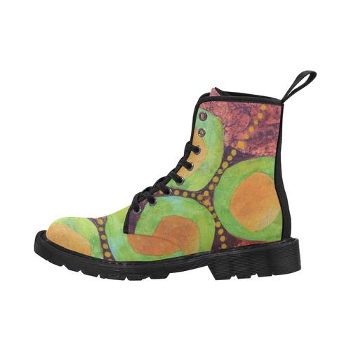 Safe Zones Martin Boots for Women (Black) (Model 1203H)