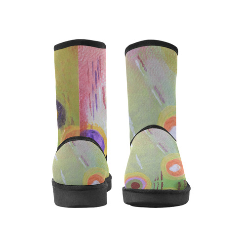 Flowers Abstract Custom High Top Unisex Snow Boots (Model 047)