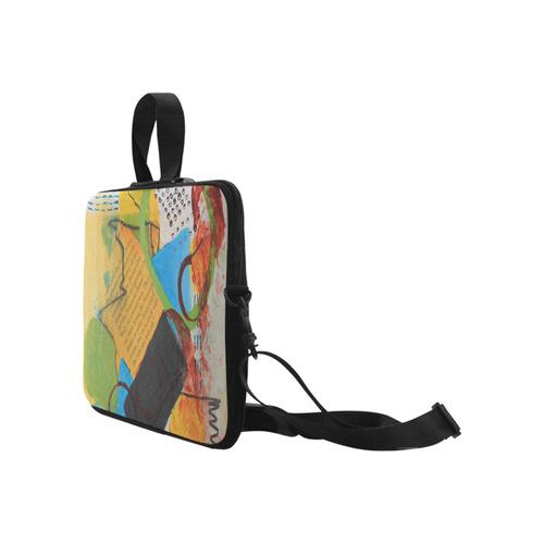 "Messy Circles Laptop Handbags 17"""
