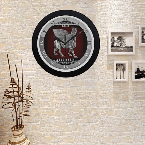 Assyrian lamassu wall clock 2 Circular Plastic Wall clock