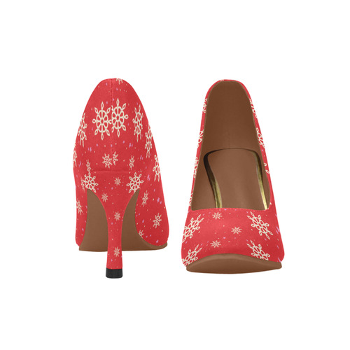 snowflake Women's High Heels (Model 048)