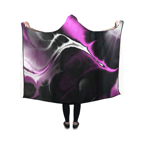 awesome fractal 33 Hooded Blanket 50''x40''