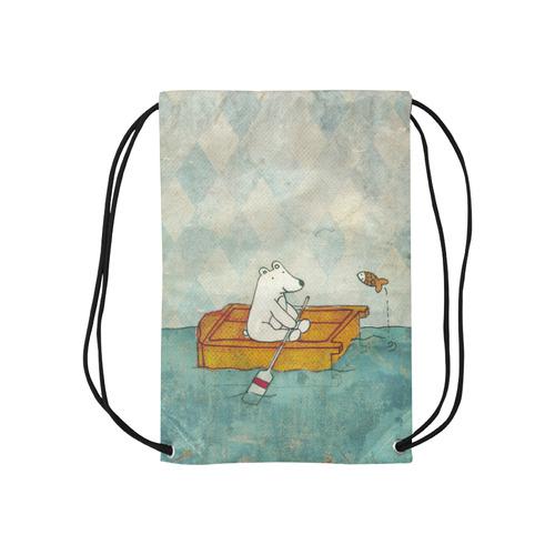 "orso, armadio, riso Small Drawstring Bag Model 1604 (Twin Sides) 11""(W) * 17.7""(H)"
