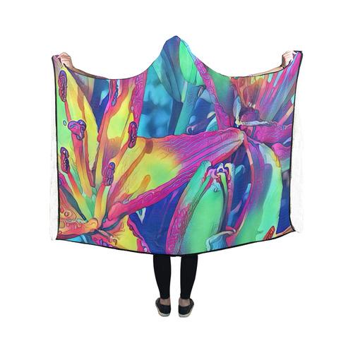 Floral ArtStudio 1016A Hooded Blanket 50''x40''
