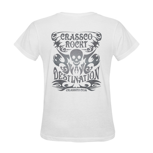SKULL DESTINATION FUX Sunny Women's T-shirt (Model T05)